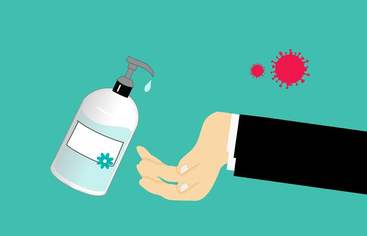 Flasche Desinfektionsmittel